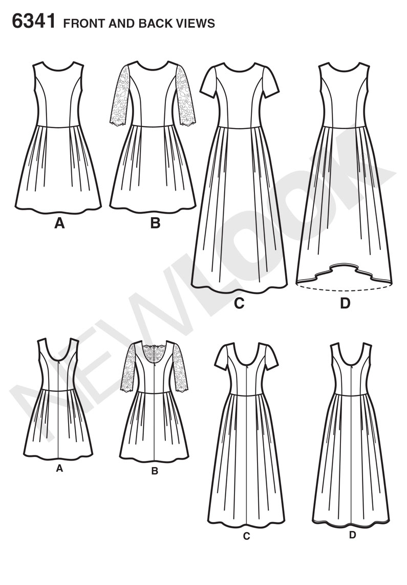 6341 New Look Pattern Ladies Day or Special Occasion Dress